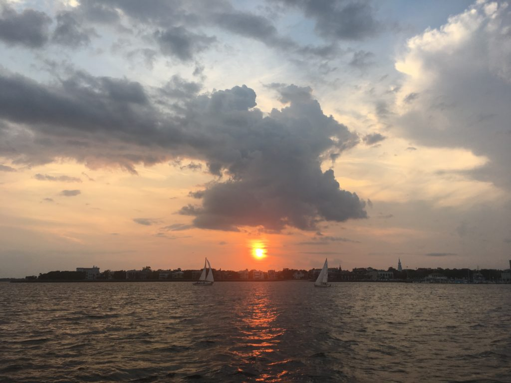 Beautiful Sunset Over Downtown Charleston